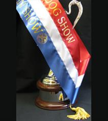Three band sash from Showstoppers Rosettes